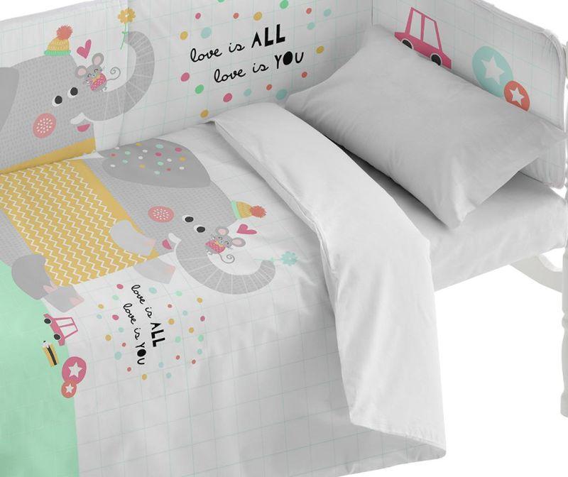 Posteljina za krevetić Love Is All