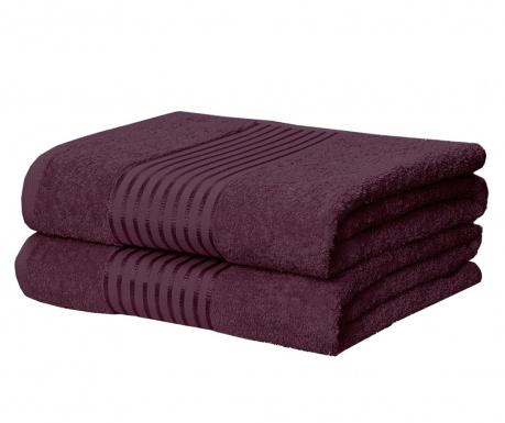 Sada 2 ručníků Windsor Plum 90x140 cm