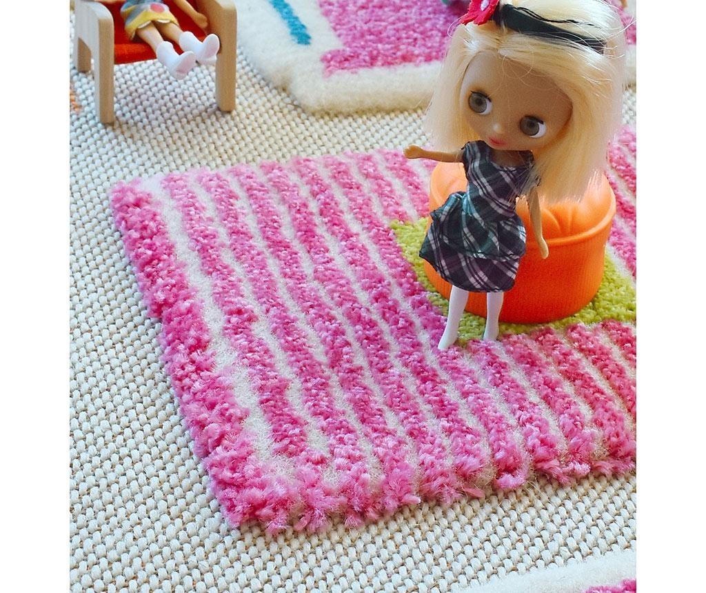 Covor de joaca Playhouse Big 3D Pink 134x200 cm