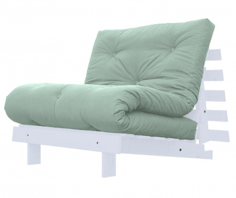Sofa extensibila Roots White and Peppermint 90x200 cm
