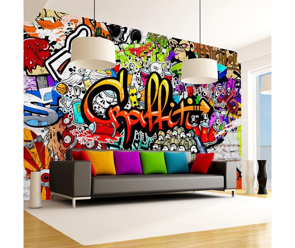 Tapeta Colorful Graffiti 280x400 cm