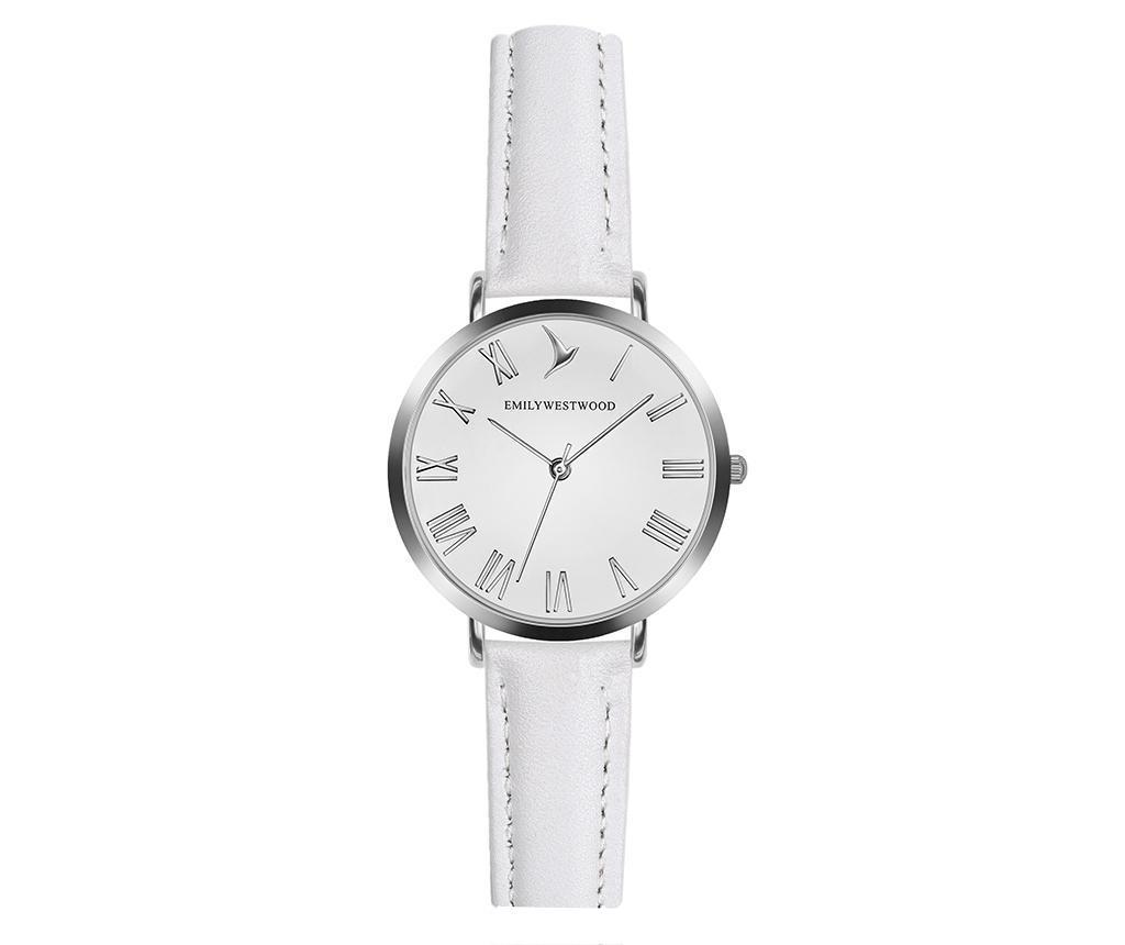 Ceas de mana dama Emily Westwood Century Classic White - Emily Westwood, Alb,Gri & Argintiu
