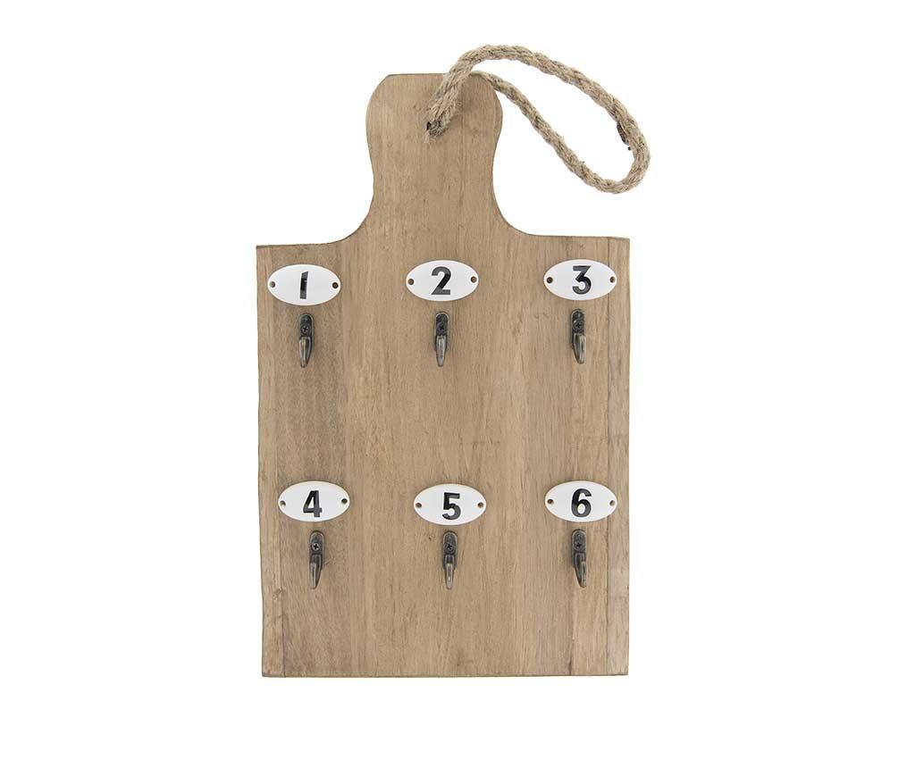 Suport pentru chei Kitchen - Clayre & Eef, Crem