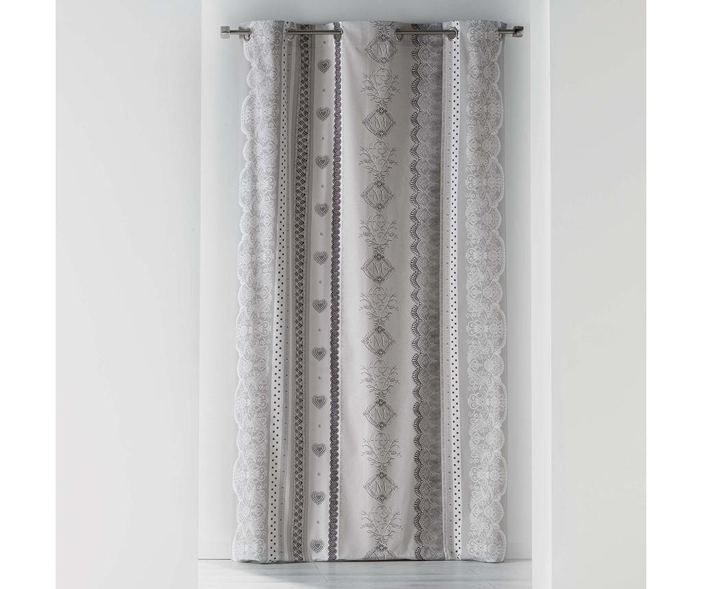 Draperie Rosalia 140x240 cm - L3C, Gri & Argintiu
