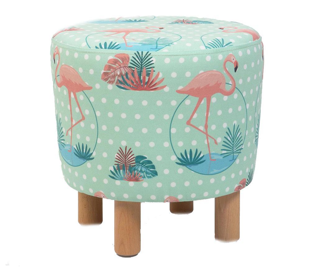Taburet Cono Round Flamingo - Homitis, Albastru,Roz