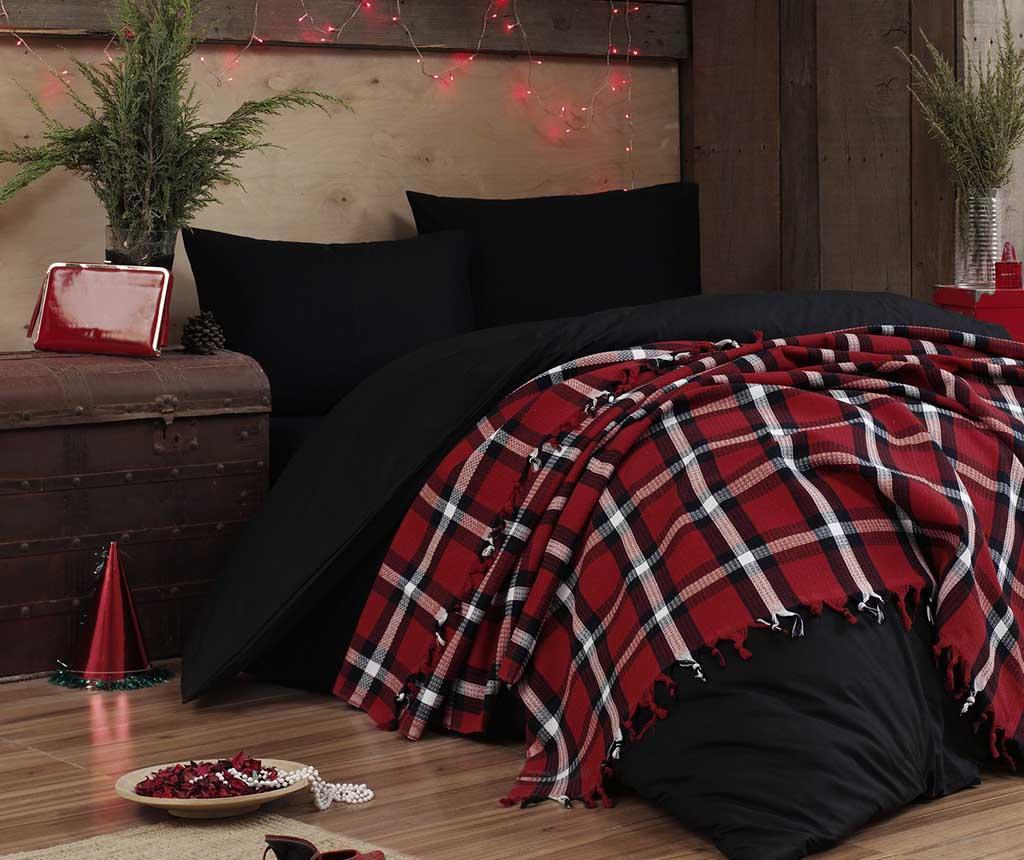 Cuvertura Pique Iskoc Red Two 200x240 cm - Eponj Home, Rosu