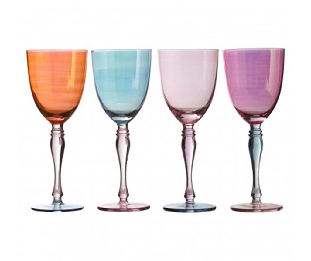 Set 4 pahare pentru vin Aurora Pastel 342 ml - Premier, Multicolor