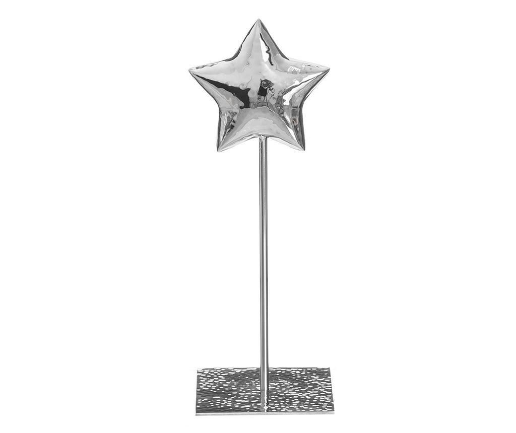 Decoratiune Fabian S - Ixia, Gri & Argintiu