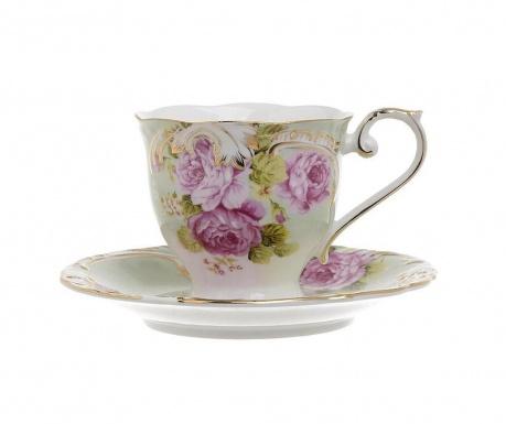 Set 6 skodelic za čaj in 6 krožničkov Inspiration Wave
