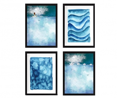 Set 4 slik Vast Sea 24x29 cm