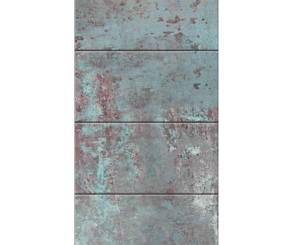 Stenska tapeta Turquoise Concrete 50x1000 cm