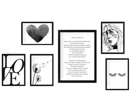 Комплект 6 картини The Love of