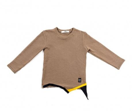 Otroška majica z dolgimi rokavi Flags Brown 6-8 let