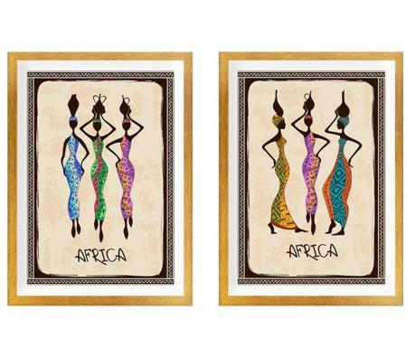 Set 2 tablouri Africa Warm 34x44 cm