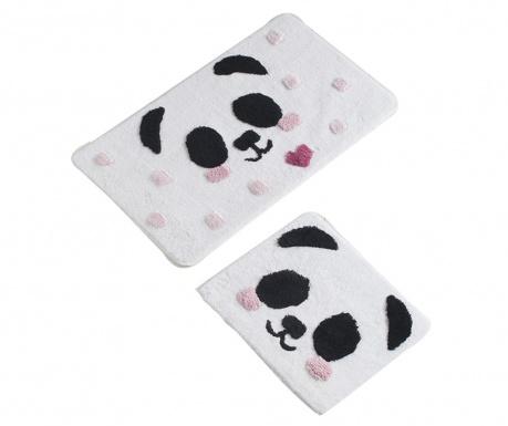 Σετ 2 χαλάκια μπάνιου Panda