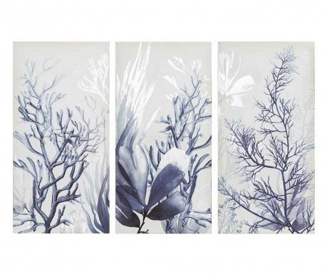 Set 3 tablouri Corales 30x60 cm