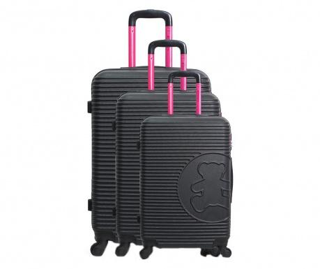 Σετ 3 βαλίτσες τρόλεϊ Big Bear Black