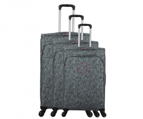 Set 3 kovčkov na kolesih Lulu Cactus Grey