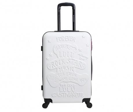 Βαλίτσα τρόλεϊ Rockstar White