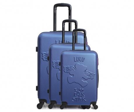 Σετ 3 βαλίτσες τρόλεϊ Ours Aile