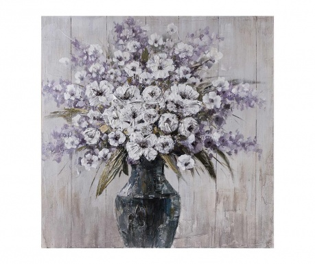 Tablou Vase Of Flowers 100x100 cm