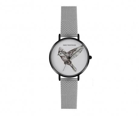 Ρολόι χειρός γυναικείο Emily Westwood Wings Glam Silver