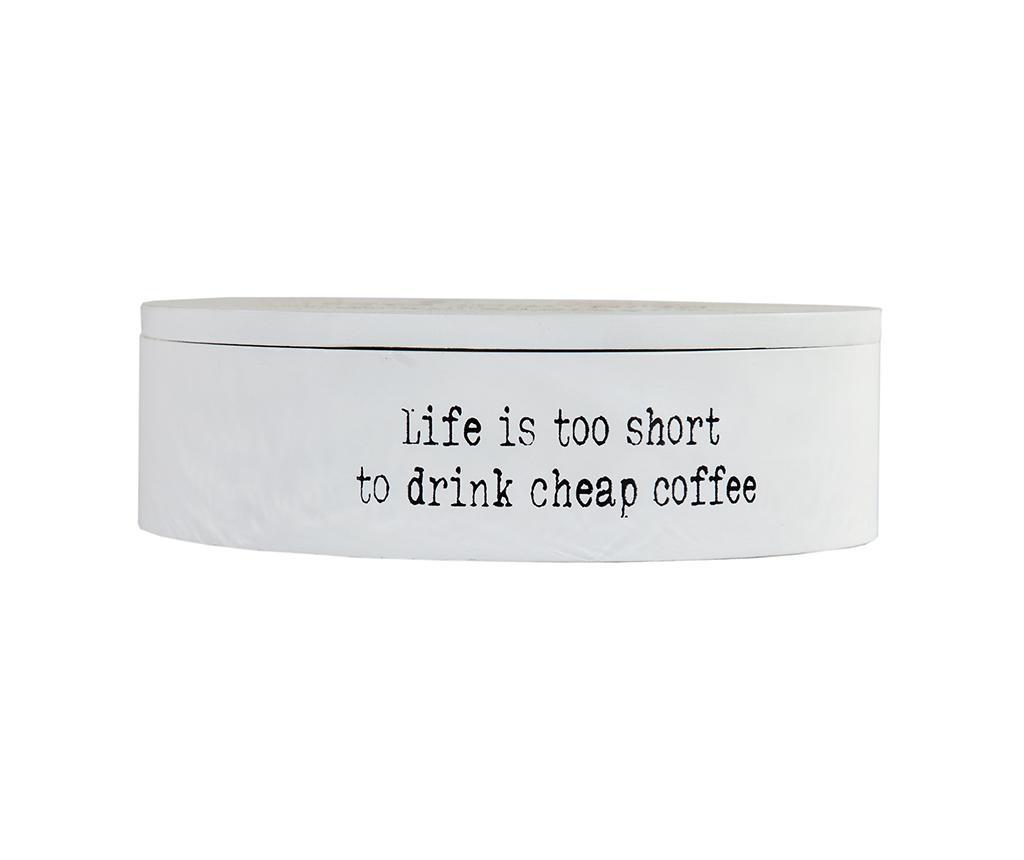 I Love Coffee Doboz fedővel
