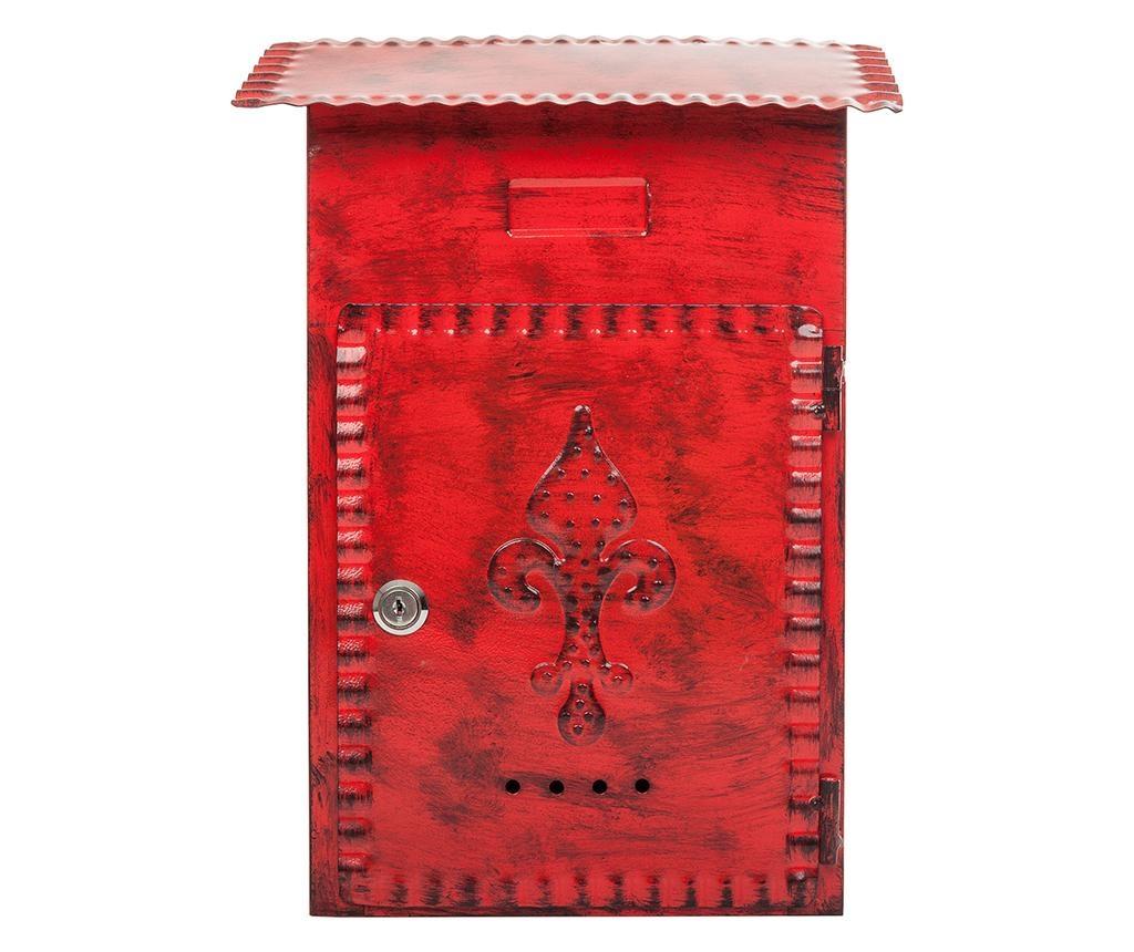 Poštni nabiralnik Fleur de Lis Red