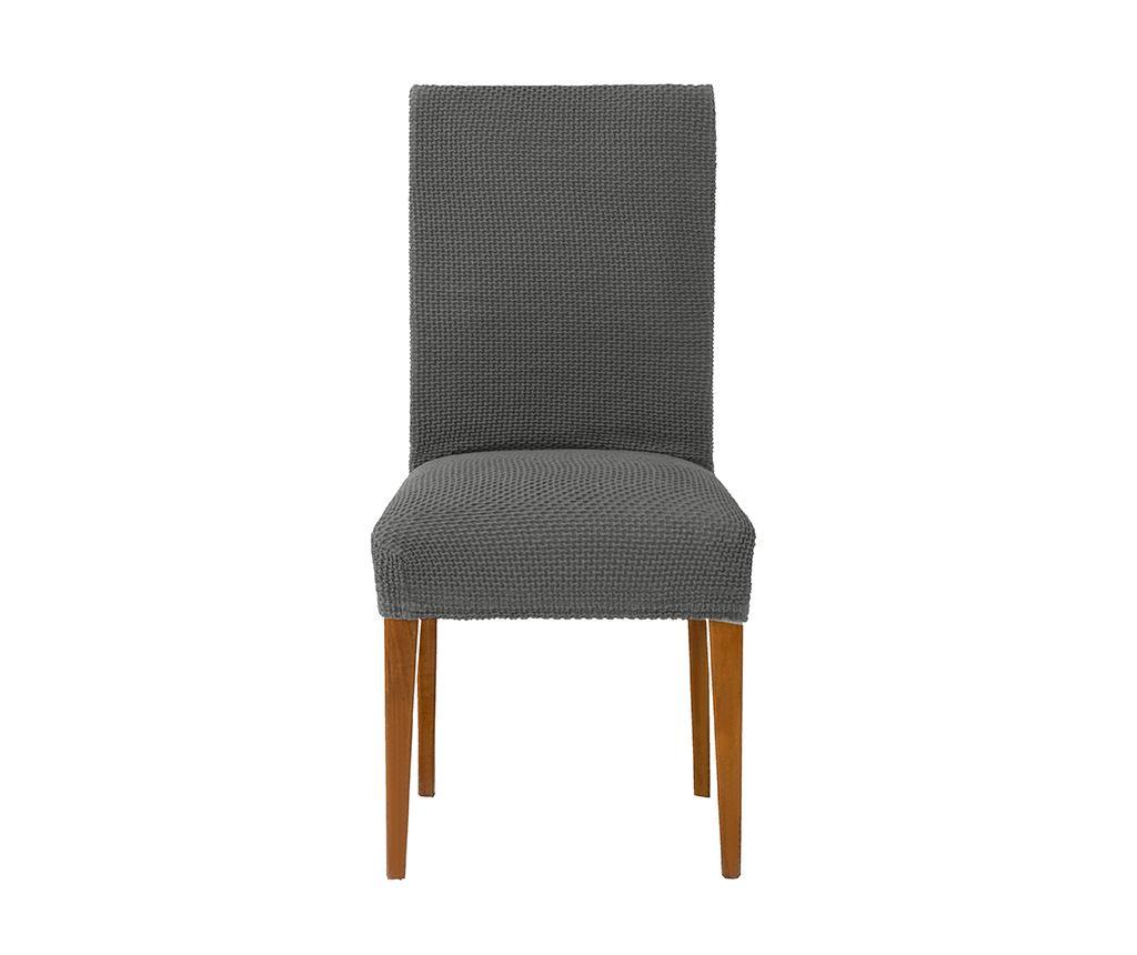 Husa elastica pentru scaun Cora Back Grey 40-50 cm - Eysa, Gri & Argintiu