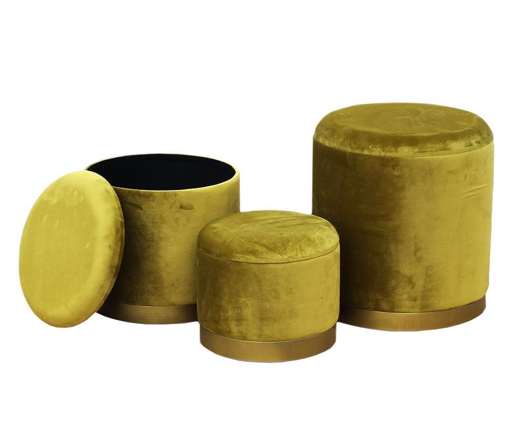 Disraeli Set Taburete Reyna Gold