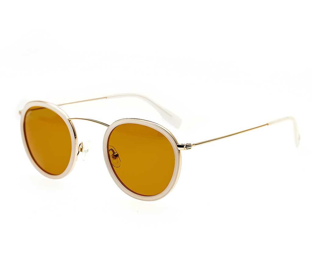 Ochelari De Soare Unisex Simplify Karen Gold White - Simplify, Alb,galben & Auriu