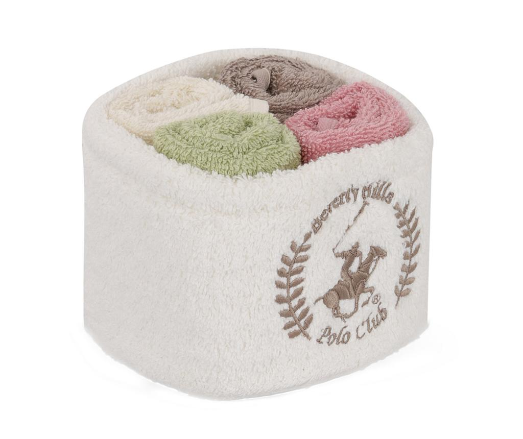 Set 4 prosoape de baie in cos Maeve 30x30 cm - Beverly Hills Polo Club, Multicolor