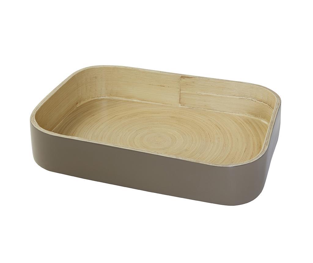 Tava pentru servire Bamboo Taupe - Compactor, Gri & Argintiu
