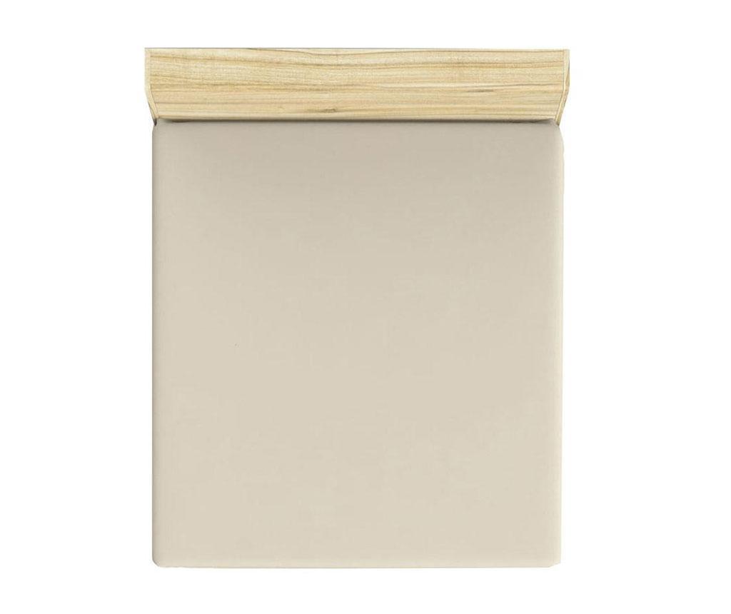 Cearsaf de pat cu elastic Mini Cream 160x200 cm - Patik, Crem