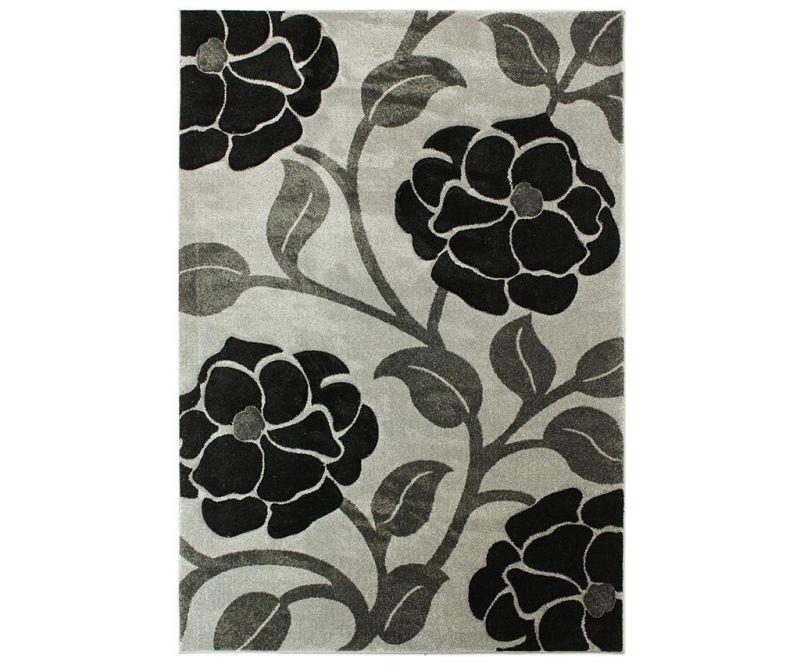 Vine Grey & Black Szőnyeg 200x290 cm