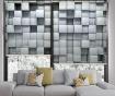 Set 2 rolo zaves Grey Blocks 100x200 cm