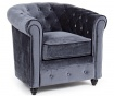 Chesterfield Velvet Grey Fotel