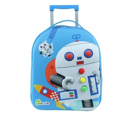 Robot Gurulós gyerek bőrönd 20 L
