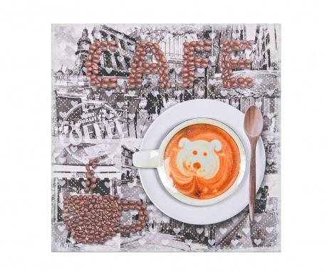 Bear Cafe Kép 40x40 cm