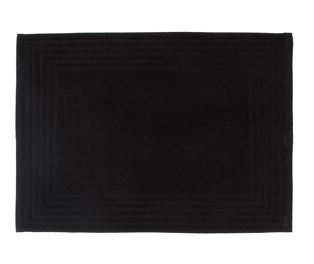 Covoras de baie Alfa Black 50x70 cm