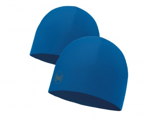 Caciula reversibila unisex Buff Solid Blue
