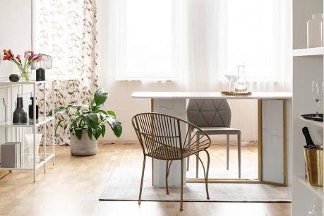 Moderní glam interiér