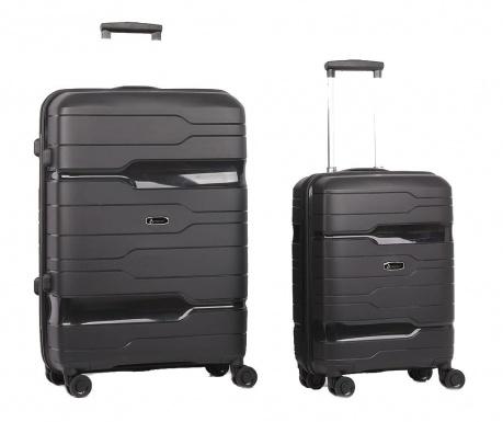 Zestaw 2 walizek na kółkach Circuit Black