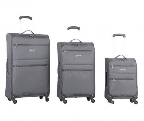 Zestaw 3 walizek na kółkach Algarve Grey
