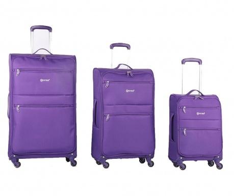 Zestaw 3 walizek na kółkach Algarve Purple