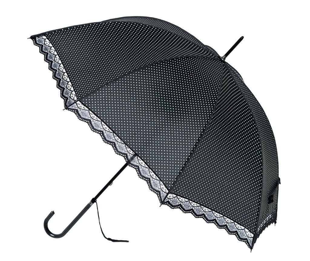 Umbrela Polka Lace Black