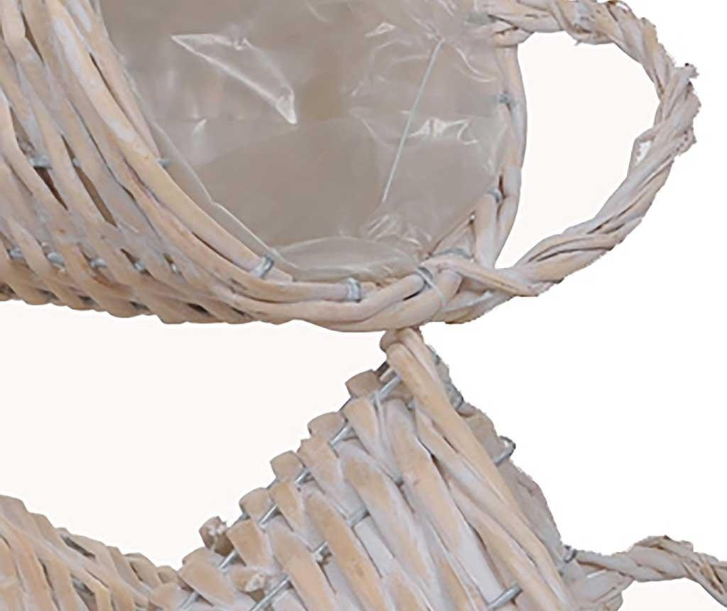 Set 3 cvetličnih loncev Cornucopia Bleach White