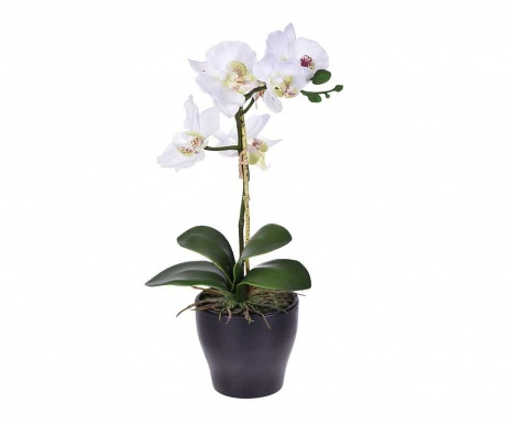Floare artificiala in ghiveci Orchidea White