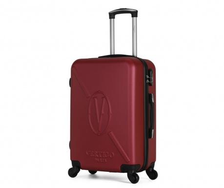 Karachi Burgundy Gurulós bőrönd 89 L