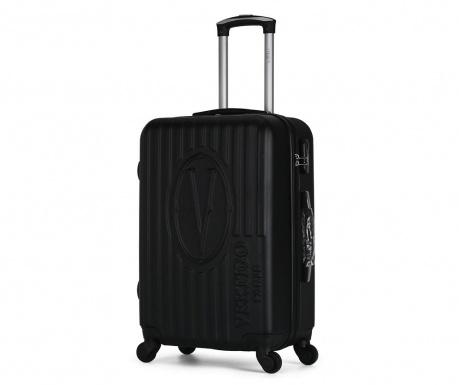 Bogota Black Gurulós bőrönd